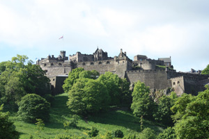 Edinburgh Castle - not far from Cleugh Farm holiday cottage